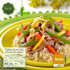 ¡Prepara fácil un delicioso y nutritivo platillo con Nutrioli!  Fajitas de res con pimiento de tres colores, te aportará antioxidantes que actúan como antiinflamatorios y protegen el sistema circulatorio. Checa la receta aquí: http://bit.ly/TxcrUy. #ChopChopChop