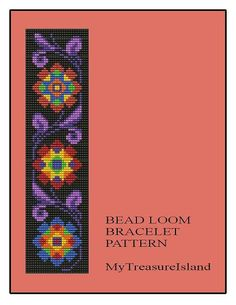 Bead Loom Vintage Floral Border 5 Bracelet Pattern PDF