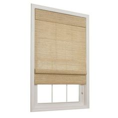 allen + roth 35-in W x 72-in L Honey Light Filtering Fabric Roman Shade We would have to use this with light blocking curtains, pulled at night