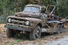 Stock Photo : Old logging truck