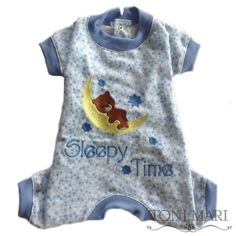 Sleepy TIme Classic Pajama in Blue/Blue - $44.00
