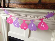 Princess Party Banner - Disney Princess, Cinderella, Sophia the First, Belle, Jasmine, Tangled, Girl Birthday Party on Etsy, $8.00