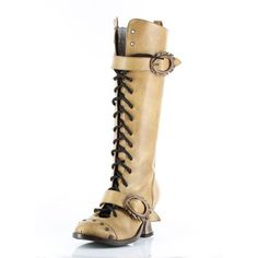 These are the perfect boots for steampunk looks and they're supper comfortable too ..