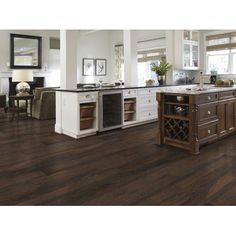 """Shaw Floors Grand Summit 8"""" x 79"""" x 10mm Hickory Laminate in Rich Hickory"""