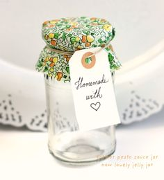 creative packaging using recycled materials and craft scraps.