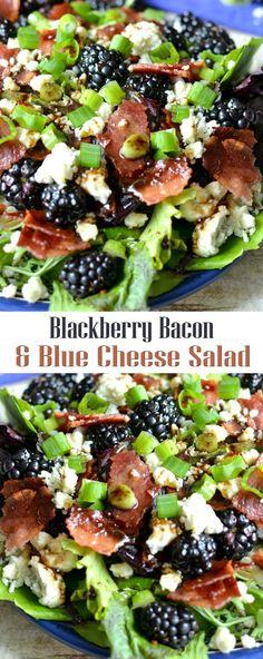Blackberry Bacon & Blue Cheese Salad
