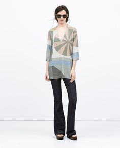 PASTEL PRINT TUNIC from Zara. cool print, love the colors