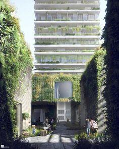 Výsledek obrázku pro green architectural visualisation