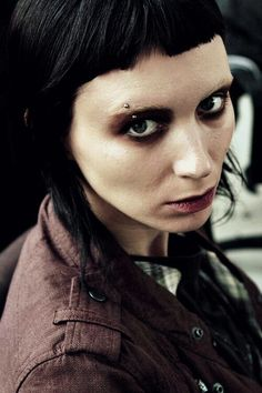 Rooney Mara in The Girl With The Dragon Tattoo. Gothy beaut.