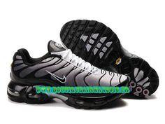 d7bd0f52ec450c Nike Air Max TN Running Chaussure Pas Cher Homme Noir Blanc 604133-150A Nike