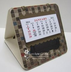 Coaster Calendars one side - post it notes other side.
