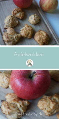 Apple clouds are a pleasure. Sugar-free and delicious! - Apple clouds – the classic among the porridge-free recipes – biscuits without sugar for BLW fro - rezepte mittagessen baby 1 jahr baby 10 monate baby led weaning