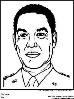colin powell coloring pages black history month