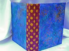 Finished Gelli Printed Junque Journals - online class from Julie Fei-Fan Balzer's I made five of them and used up lots of old scrapbook paper and Gelli prints.