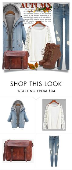 """Romwe #2"" by almedina-86 ❤ liked on Polyvore featuring Frame Denim, JustFab and romwe"