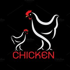 Vector image of an chicken design by yod67 on @graphicsmag
