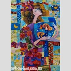 Buy and sell art online. Browse millions original artworks like paintings, photography, sculpture and fine art prints by great confirmed and emerging artists Art And Illustration, Silk Painting, Figure Painting, Fantasy Kunst, Fantasy Art, Arte Latina, Figurative Kunst, Batik Art, Naive Art