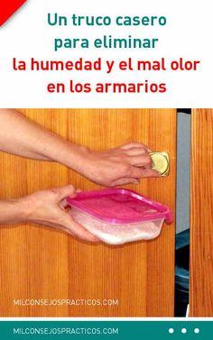 Un truco casero para eliminar la humedad y el mal olor en los armarios. ¡Fácil y barato! #humedad #malolor #desodorant