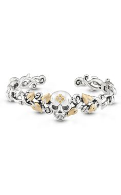 Roses Never Die Skull Bangle – Diamond – Barbara Bixby