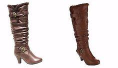 Women's Latest Fashion Knee High Buckle Strap Winter Woolen lining boots Shoes | eBay