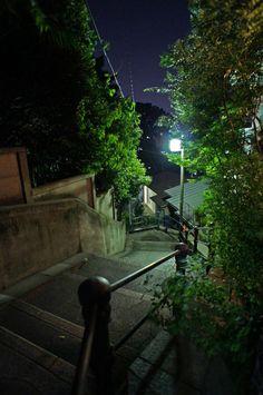 夜散歩のススメ「薬王院脇の階段」東京都新宿区