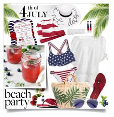 """4th of July in beach party🌊"" by ela79 ❤ liked on Polyvore featuring Tommy Hilfiger and Alexander McQueen"