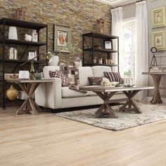 The classic contemporary styling of this dining room collection is sure to become a timeless piece in any home. This collection will make any home feel relaxed and inviting. <br><br><ul> <li>Trestle b...