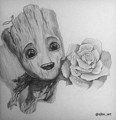 Lessons That Will Get You In The arms of The Man You love Pencil Art Drawings, Art Drawings Sketches, Disney Drawings, Cartoon Drawings, Cute Drawings, Avengers Drawings, Avengers Art, Marvel Tattoos, Baby Groot Drawing