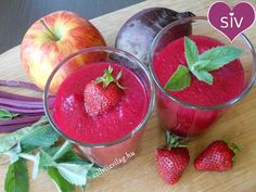Rubinvörös eper-cékla smoothie
