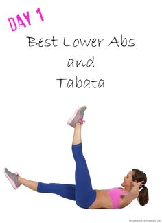 DAY 1: Here we go! Today I am showing you the 8 BEST lower ab exercises to flatten the belly! We are also getting a total body blast with a 10 minute Tabata workout featuring 20 different moves! I am linking to the YouTube Abs workout and the Tabata is in the playlist on my channel. Re-pin and comment below to let me know you did this!