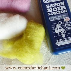DIY - Technique de réalisation de perles et boules en laine cardée, à l'eau savonneuse