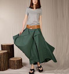 Fashion Women Green Stylish Skirt Summer Half Skirt Cotton Linen Skirt Presented by AEKK Jewelry Summer Skirts, Summer Maxi, Beautiful Summer Dresses, Linen Skirt, Cute Skirts, Style Inspiration, Clothes For Women, Trending Outfits, My Style