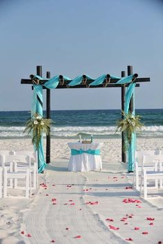 Beach Wedding Decor and Decorations : Gulf Shores Weddings on the Beach :