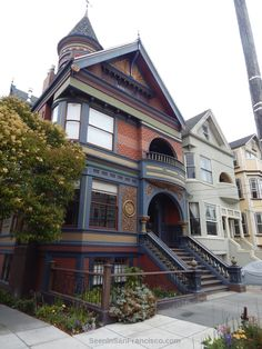 victorian mansion, haight-ashbury san francisco ~ Join the Seen In San Francisco Facebook group to share your SF photos and videos or to enjoy the pics and videos in your Facebook feed: https://facebook.com/groups/seeninsanfrancisco
