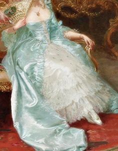 """ The Admirer, Detail. by Cleto Luzzi "" Pretty Dresses, Beautiful Dresses, Princess Aesthetic, Victorian Art, Classical Art, Renaissance Art, Pretty Art, Fashion History, Dream Dress"