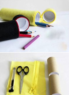 Schmeißt leere Klopapierrollen nicht weg! 20 coole Tipps, um sie wiederzuverwenden | CooleTipps.de School Items, Sunglasses Case, Upcycle, Recycling, Zero Waste, Projects, Cardboard Tubes, Toilet Paper Rolls, Amigurumi