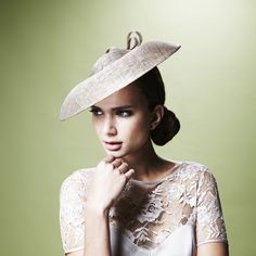 Gina Foster Millinery - Felicia - Medium Coulis Hat with Straw Bow £435.00