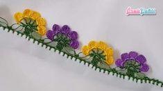 Mor Ve Sarı Çiçekler Tığ Oyası Modeli Yapılışı Patch, Needlework, Free Pattern, Diy And Crafts, Blanket, Stuff To Buy, Dish Towels, Scorpion Sign, Carpet