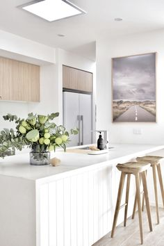 House call: Visit the plant-filled, Scandi inspired home of Haus of Cruze. Light oak kitchen cabinetry