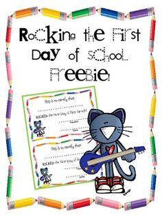 ROCKING THE FIRST DAY OF FIRST GRADE CERTIFICATE FREEBIE! - TeachersPayTeachers.com