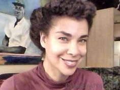 1950s Full Updo - Protective Styling Natural Kinky Curly Hair Pin Up - Part 3 - YouTube