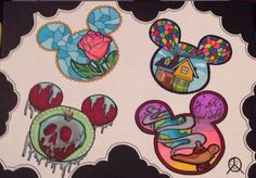 Disney tattoo designs art. I'm not sure if i would ever do this. But I think these are super cool !