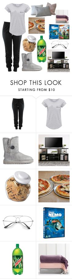 """""""Movie Night"""" by artisticstyler ❤ liked on Polyvore featuring Maison Labiche, UGG Australia, Furniture of America, OXO, Sur La Table and PBteen"""