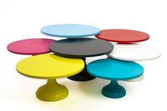 colorful modern cake stands sarahs stands Modern Wedding Cake Accessories