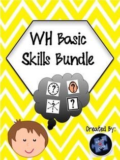 """Two Great Products!!!1. Who, What, When, Where Visual Worksheets   Includes basic worksheets to help students master and differentiate between """"who,"""" """"what,"""" """"when,"""" and """"where"""" using visuals to enhance understanding. These worksheets are great for students with autism and other disabilities or for young learners."""