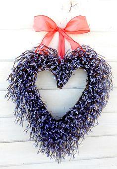 Valentines Day Wreath-Wedding Decor-Wedding by WildRidgeDesign