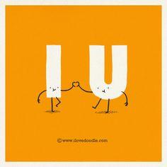 I <3 U by ilovedoodle, via Flickr.