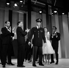 "Joey Bishop ,Frank Sinatra ,Elvis, Nancy Sinatra, Sammy Davis - ABC - TV Special ""The Frank Sinatra Timex Special"" - Welcome Home Elvis Recorded at 6.15pm March 26th 1960 for transmission on May 12th 1960. The special was recorded in Black and White (ABC TV didn't start using color until 1962) Directed by Richard Dunlap"