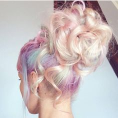 ✧・゚. angrydinosaurx ✧* Purple Pink Blue Pastel Rainbow Mermaid Hair Colour Colored Color Coloured