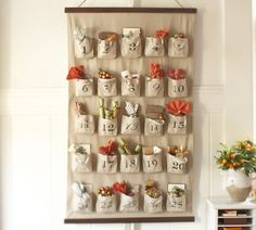 PB Burlap Sack Advent Calendar- would love to do this for the holidays this year.  Cute.